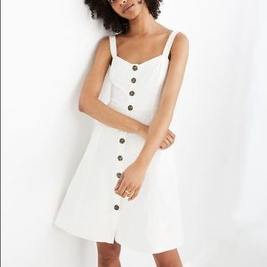 NWT Madewell Button-Front Tank Dress